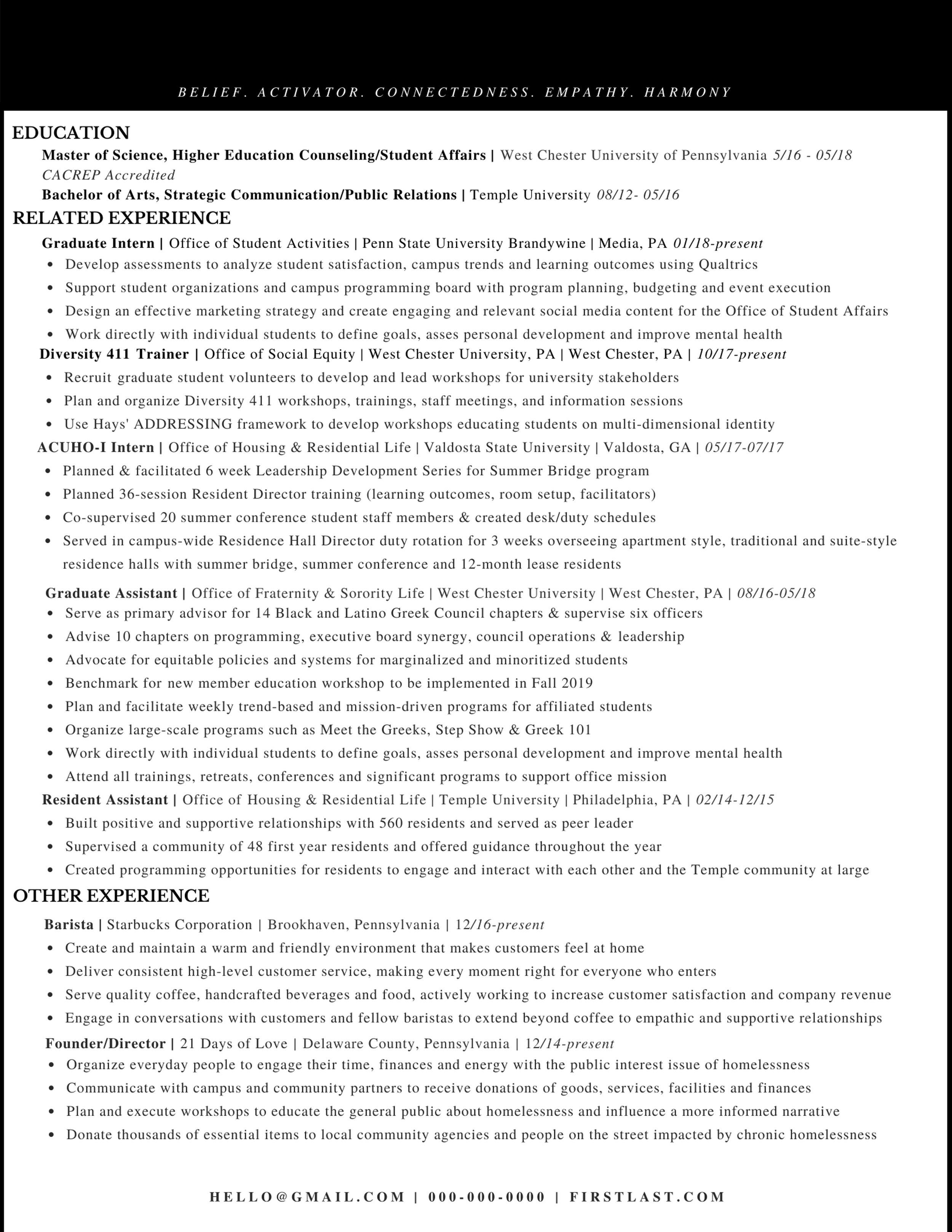 Advanced Resume 1
