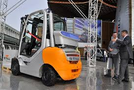 Logistics, data, supply combine with material handling equipment like forklifts
