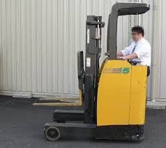 Traditional Reach Truck with manual controls