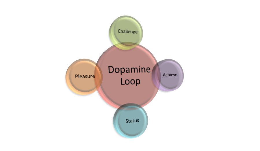 Source: JAMSO dopomine interaction loop for gamification impacts