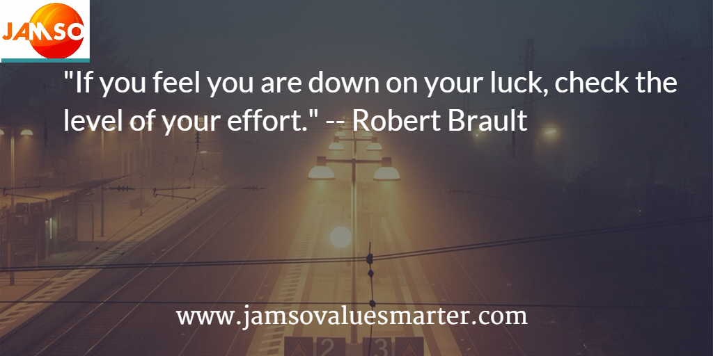 Robert Brault quote about hard work