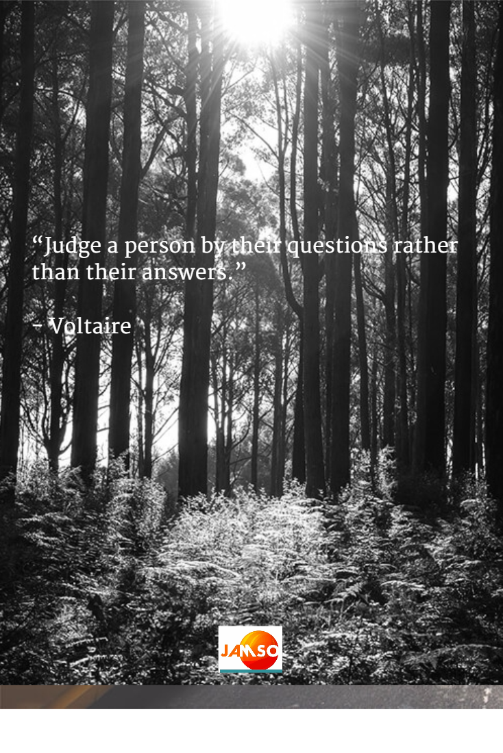 Judge a person by their questions and not their answers