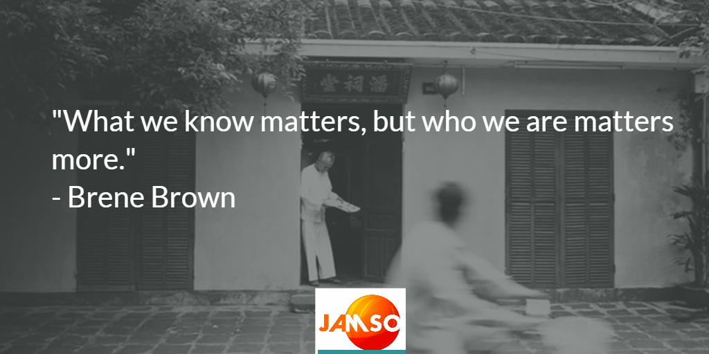 Waht we know matters but who we are matters more