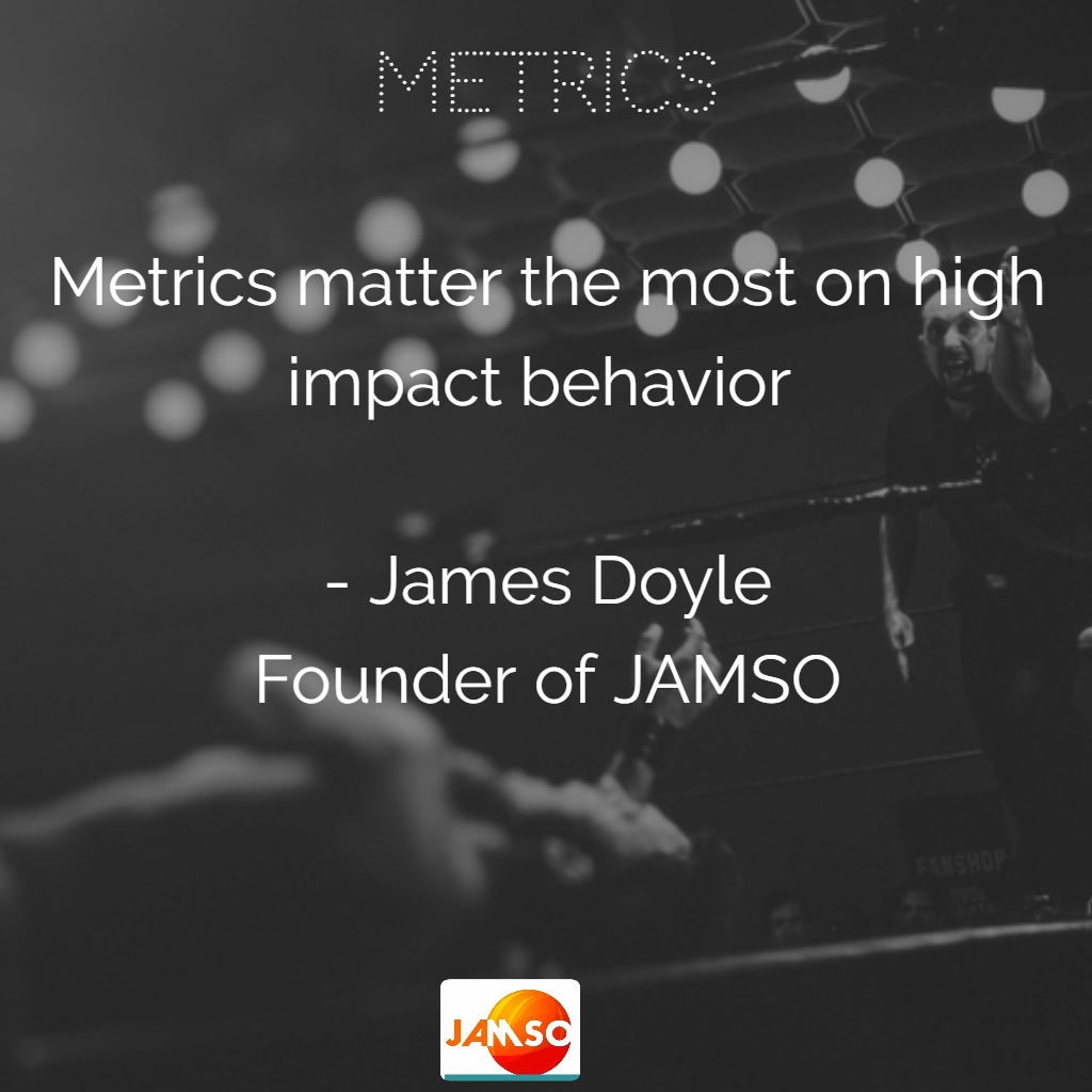 Quote about Metrics by James Doyle