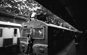 Risky train ride