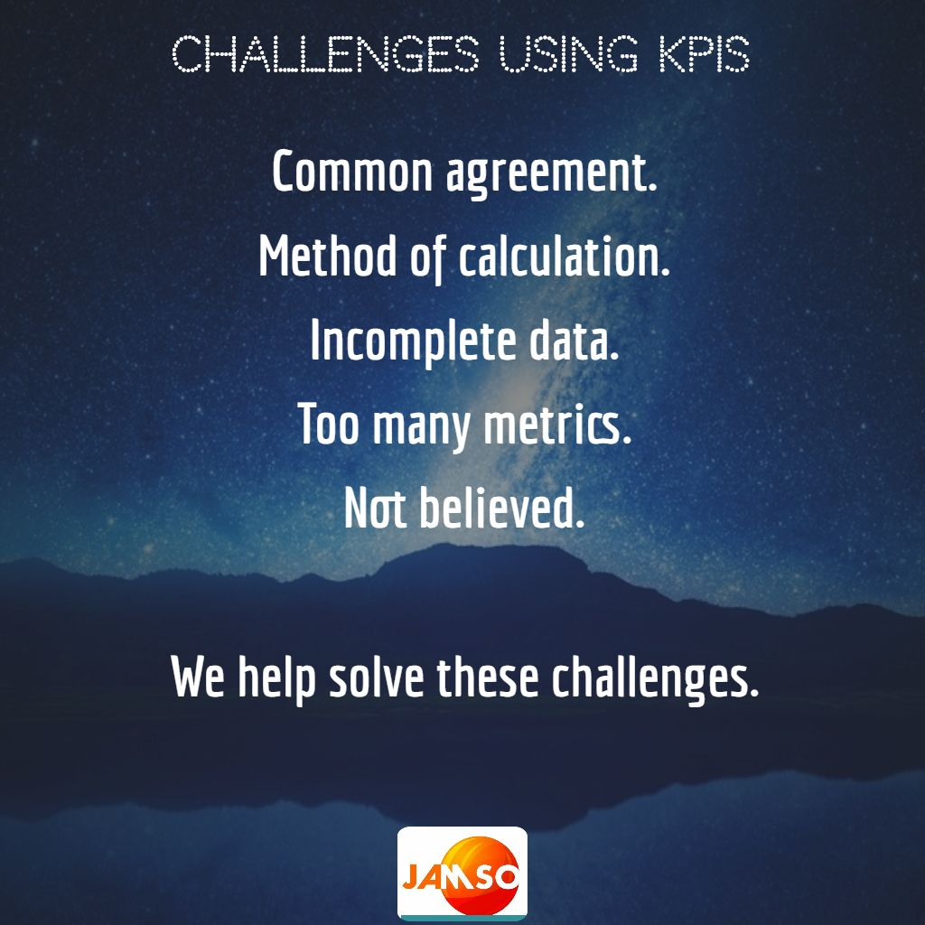 The key challenges when using metrics: We help you solve these issues
