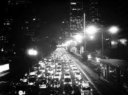 Sitting in a traffic jam