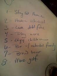A list of goal aims