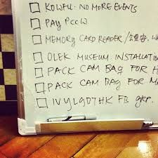 Productivity check list
