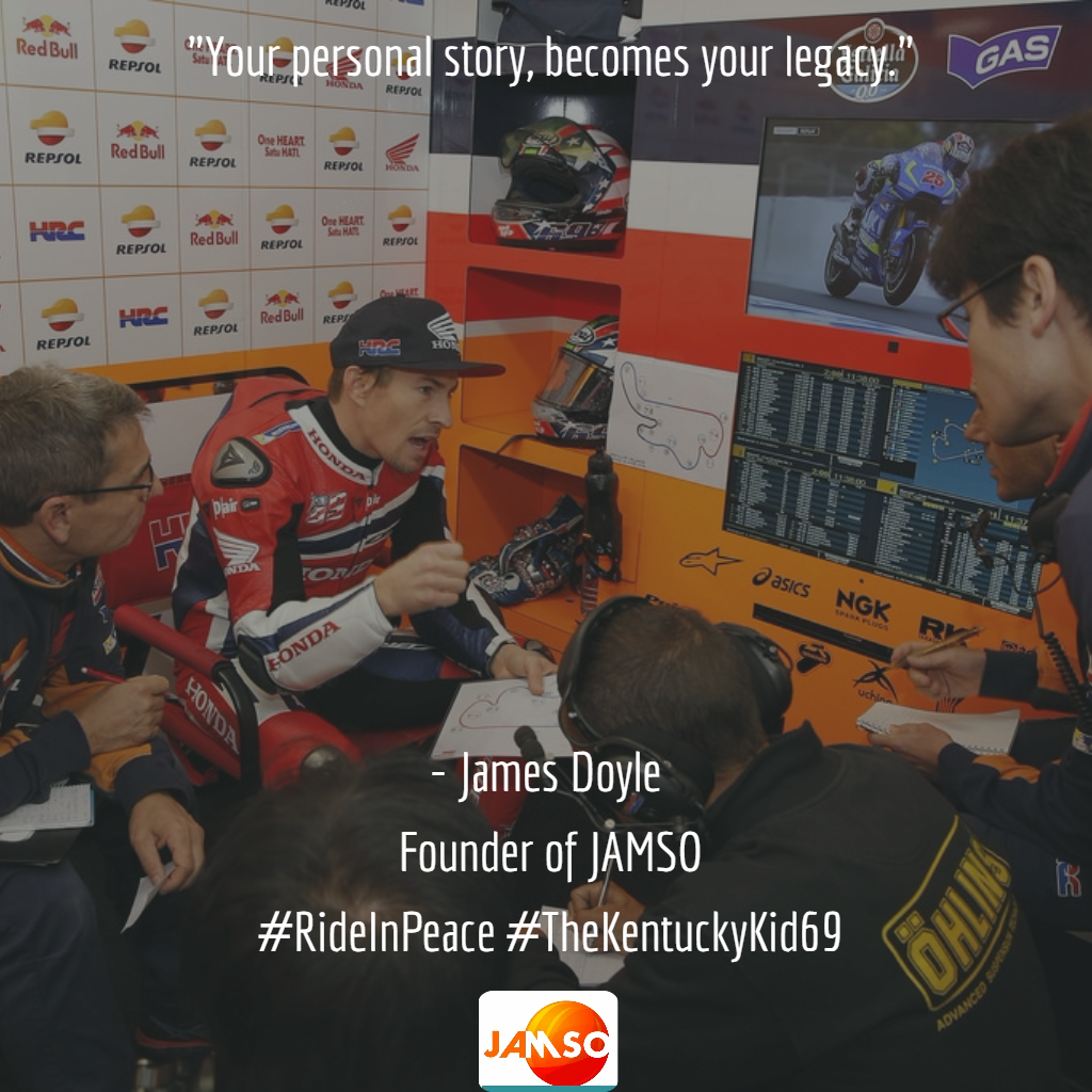 A copy of our dedicated post on social media in the memory of Nicky Hayden