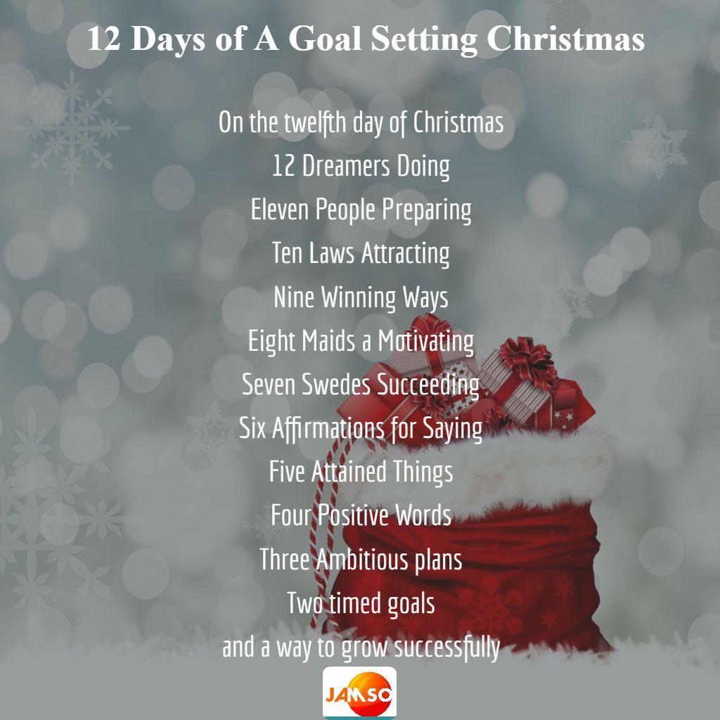 goal setting Christmas carol
