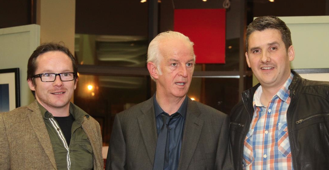 Mark  and  Padraic  looking a little starstruck. The 3 lads went on to work together at Windmill Lane on  'A Walk With Allingham' .