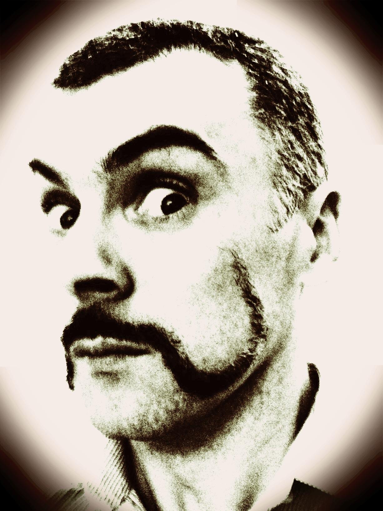 Justin sporting his Movember at #designatmagee