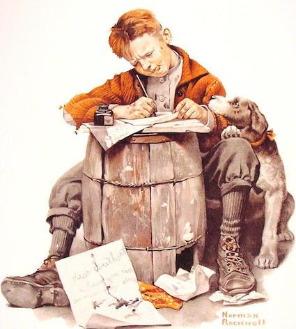ya394 Little boy writing a letter.JPG