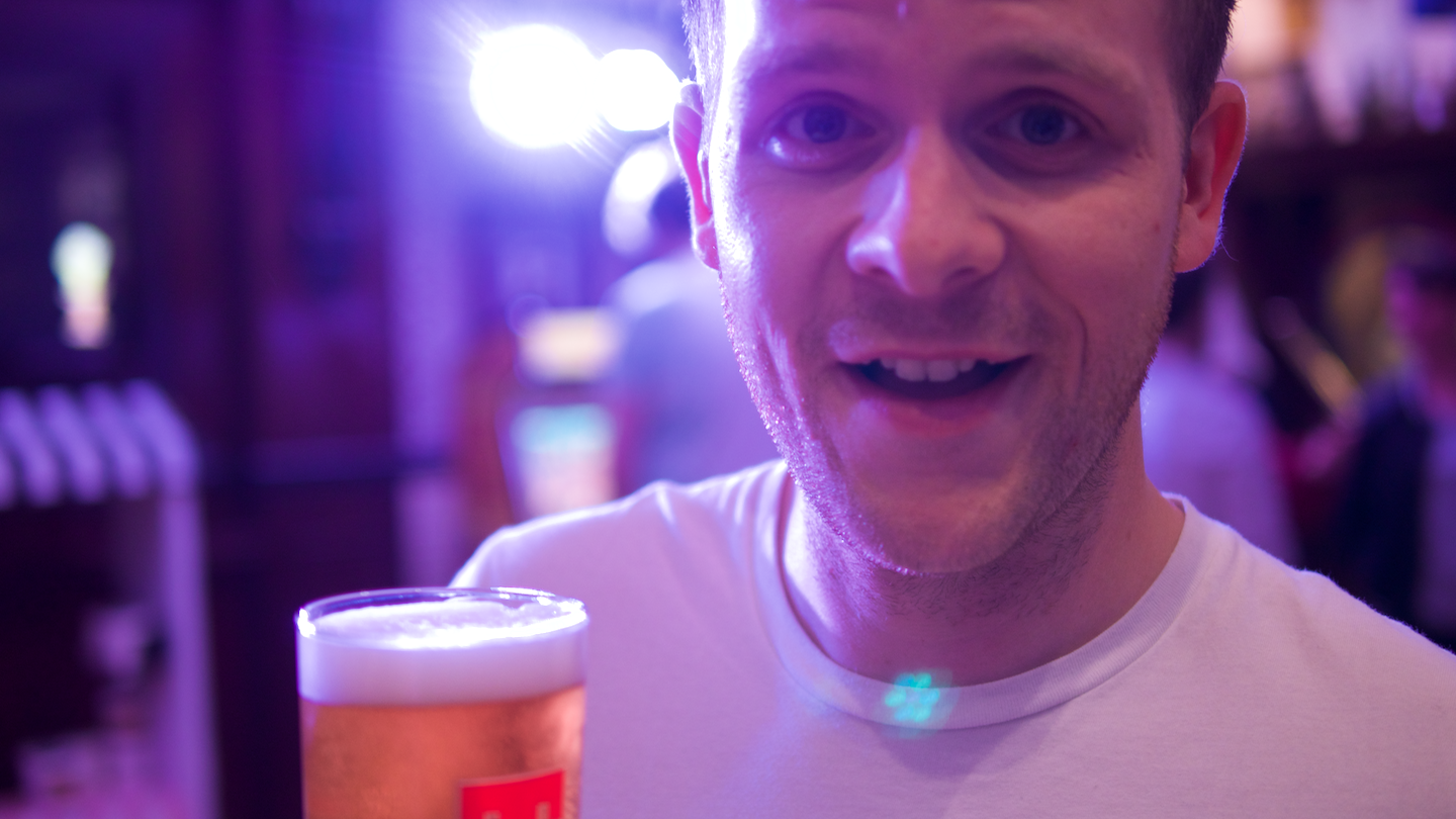 There's a face you'd need beer goggles to love...