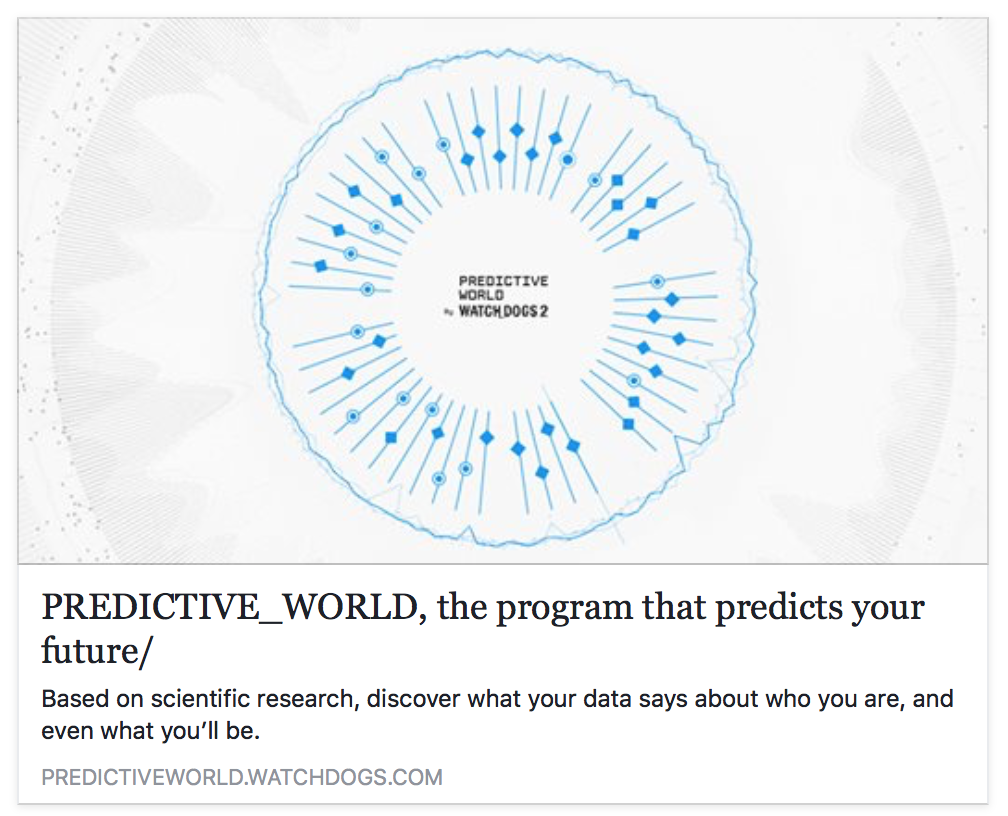 Predictive World