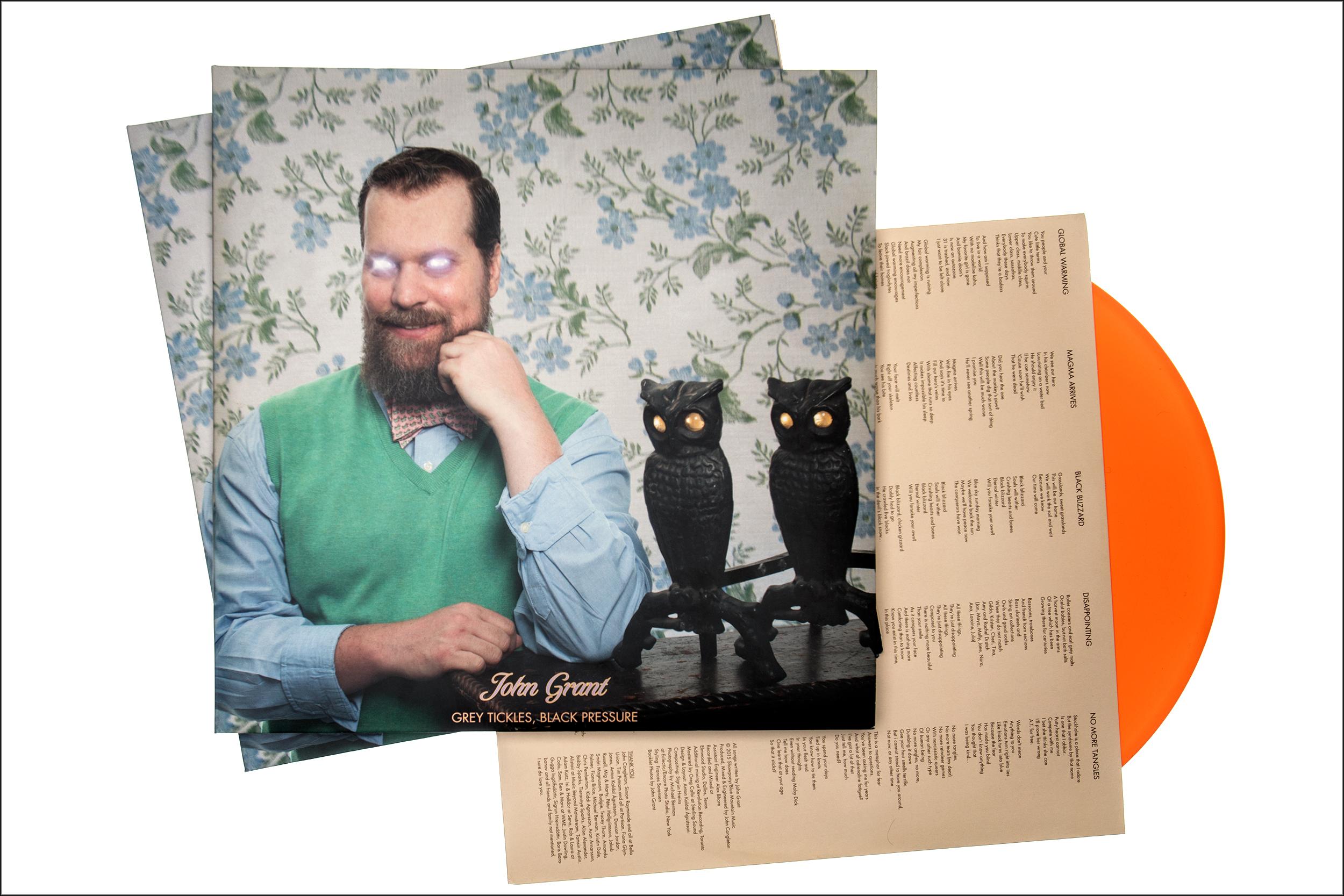"John Grant ""Grey Tickles, Black Pressure"" album materials"