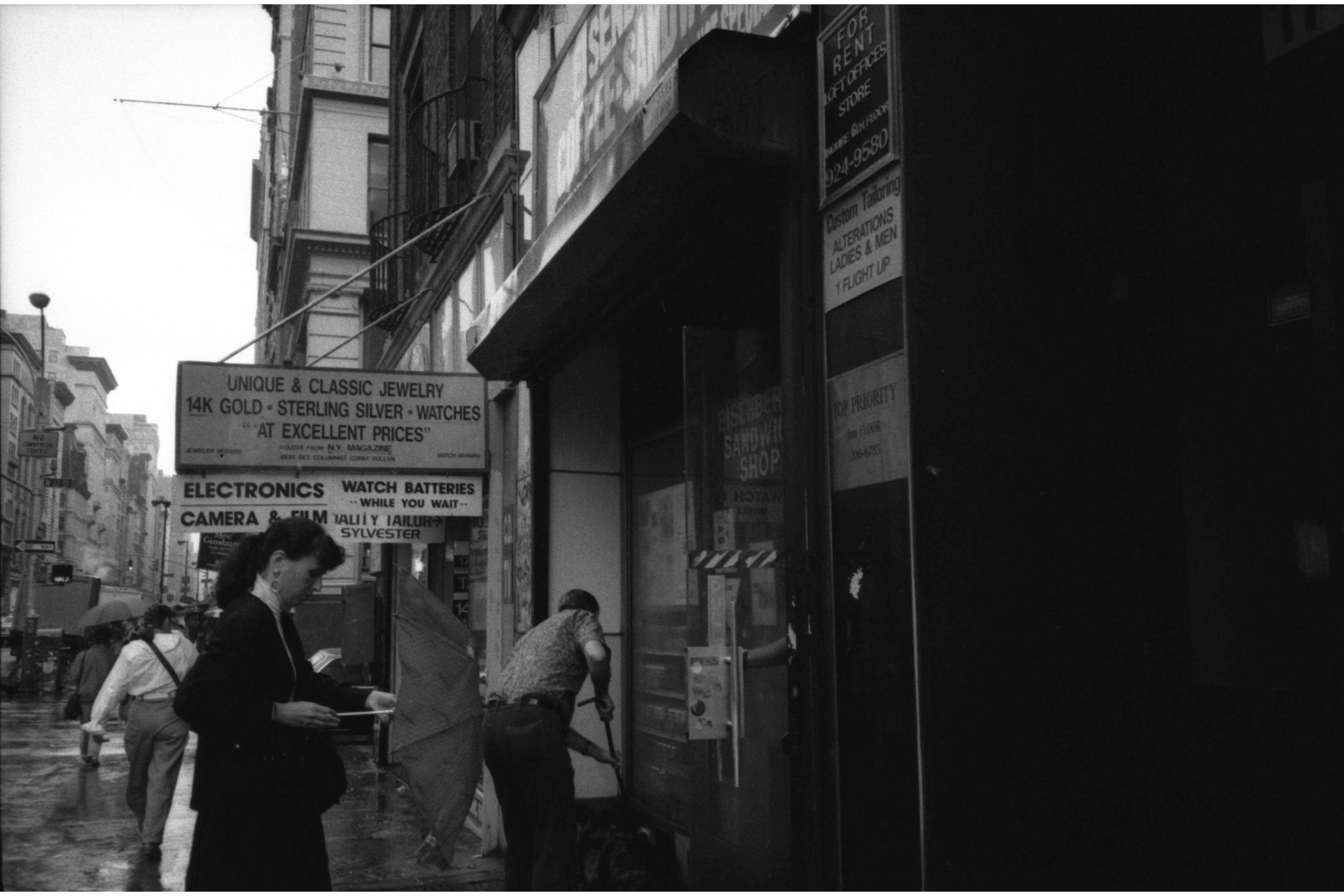 Outside Eisenberg's, 1992