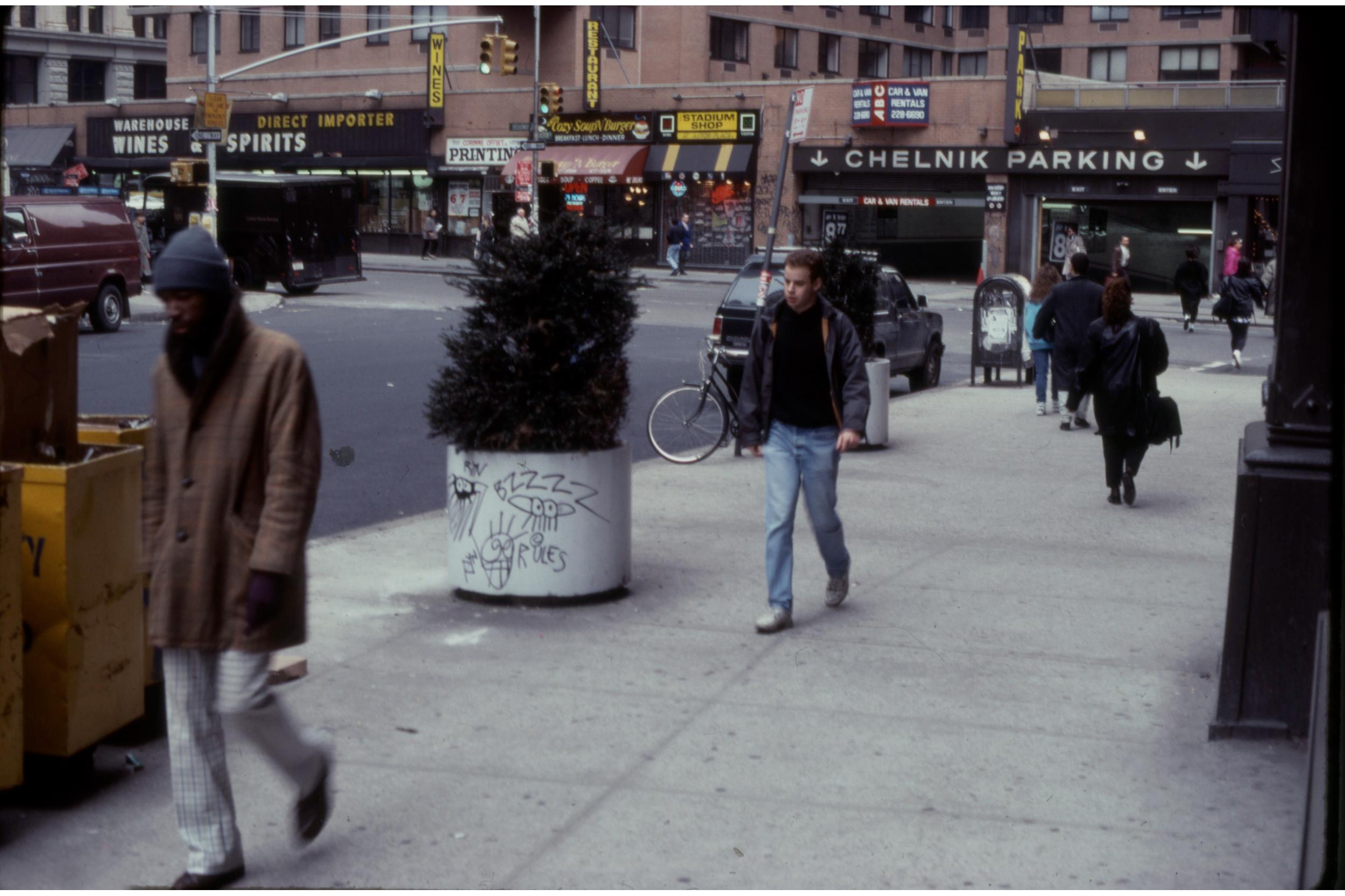 Astor Place, April 1990