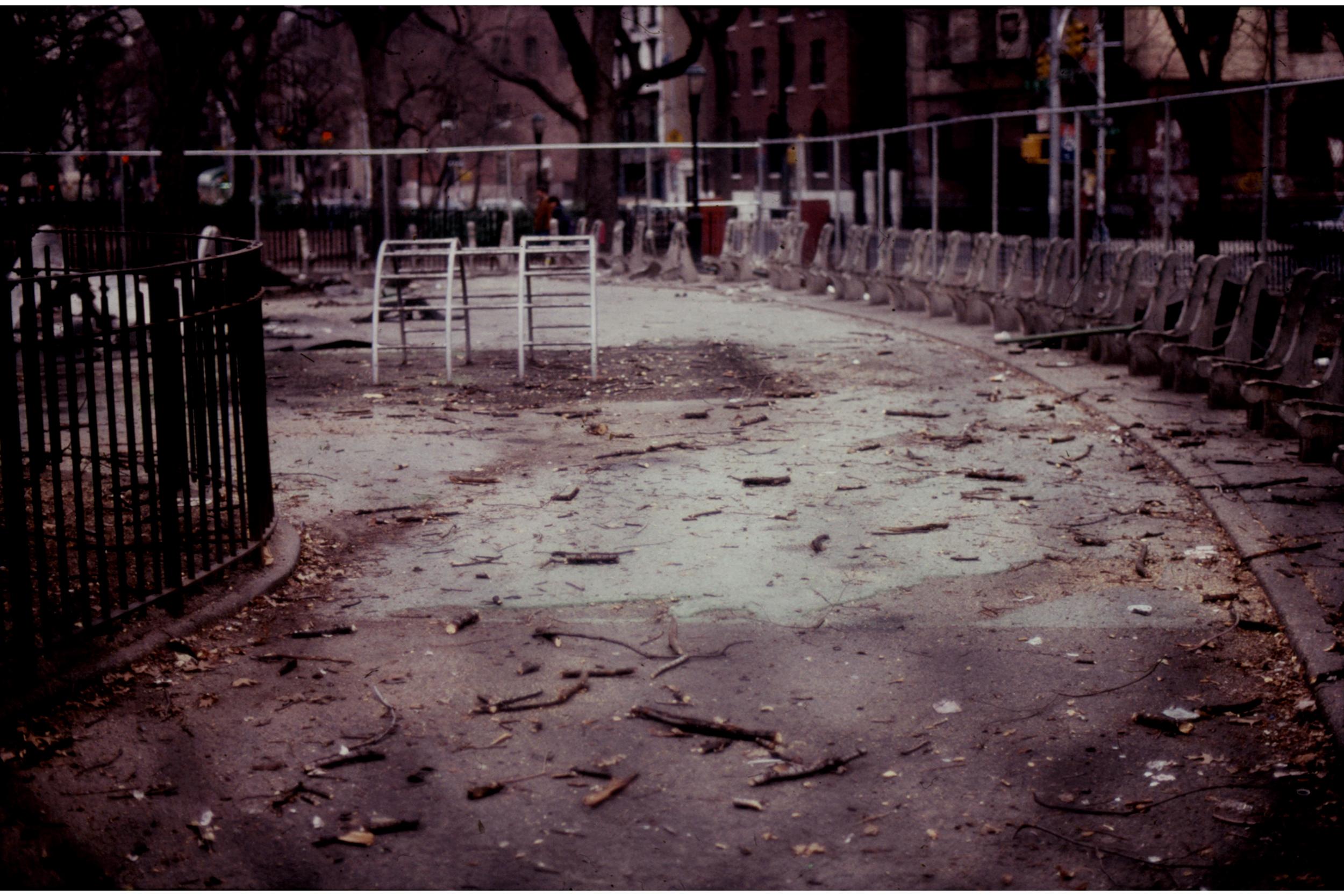 Tompkins Square Park, February 1990