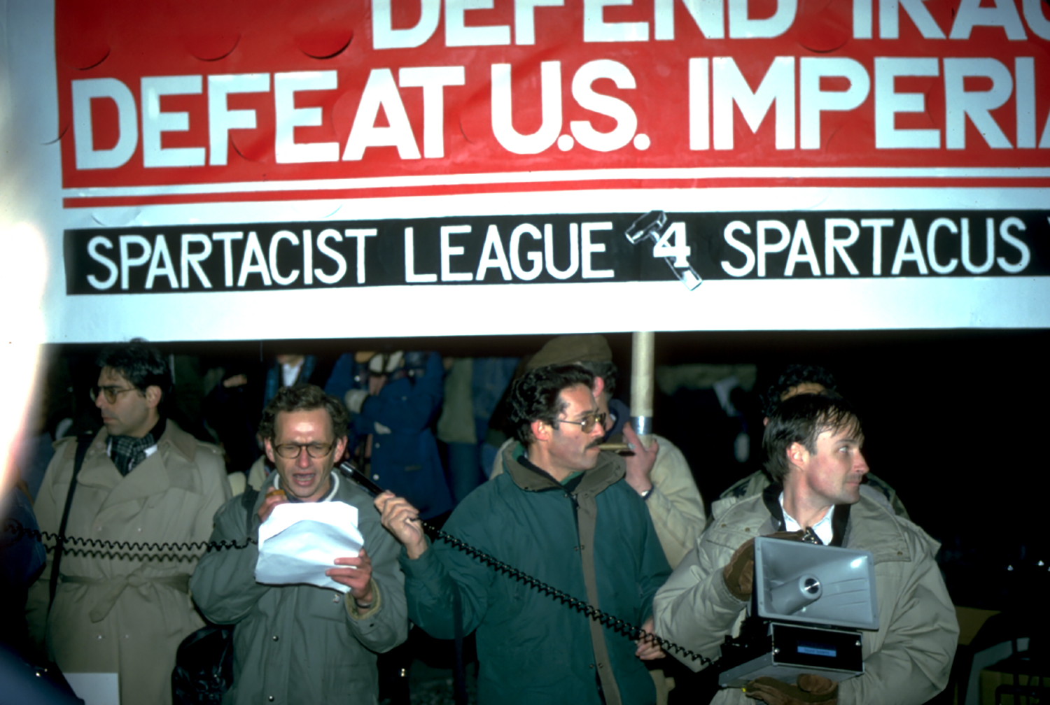 Gulf War Protesters at Times Square, 1991