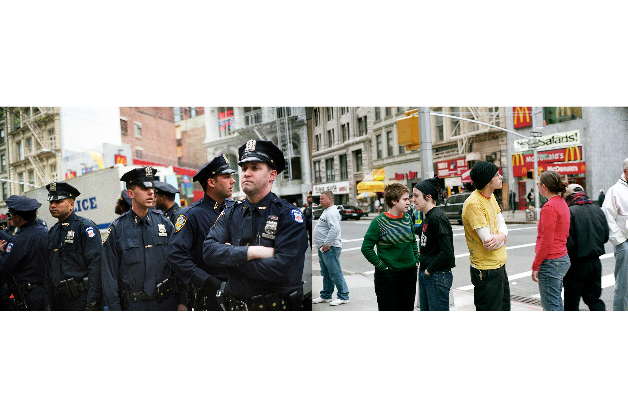 Cops and Protesters, Lower Manhattan