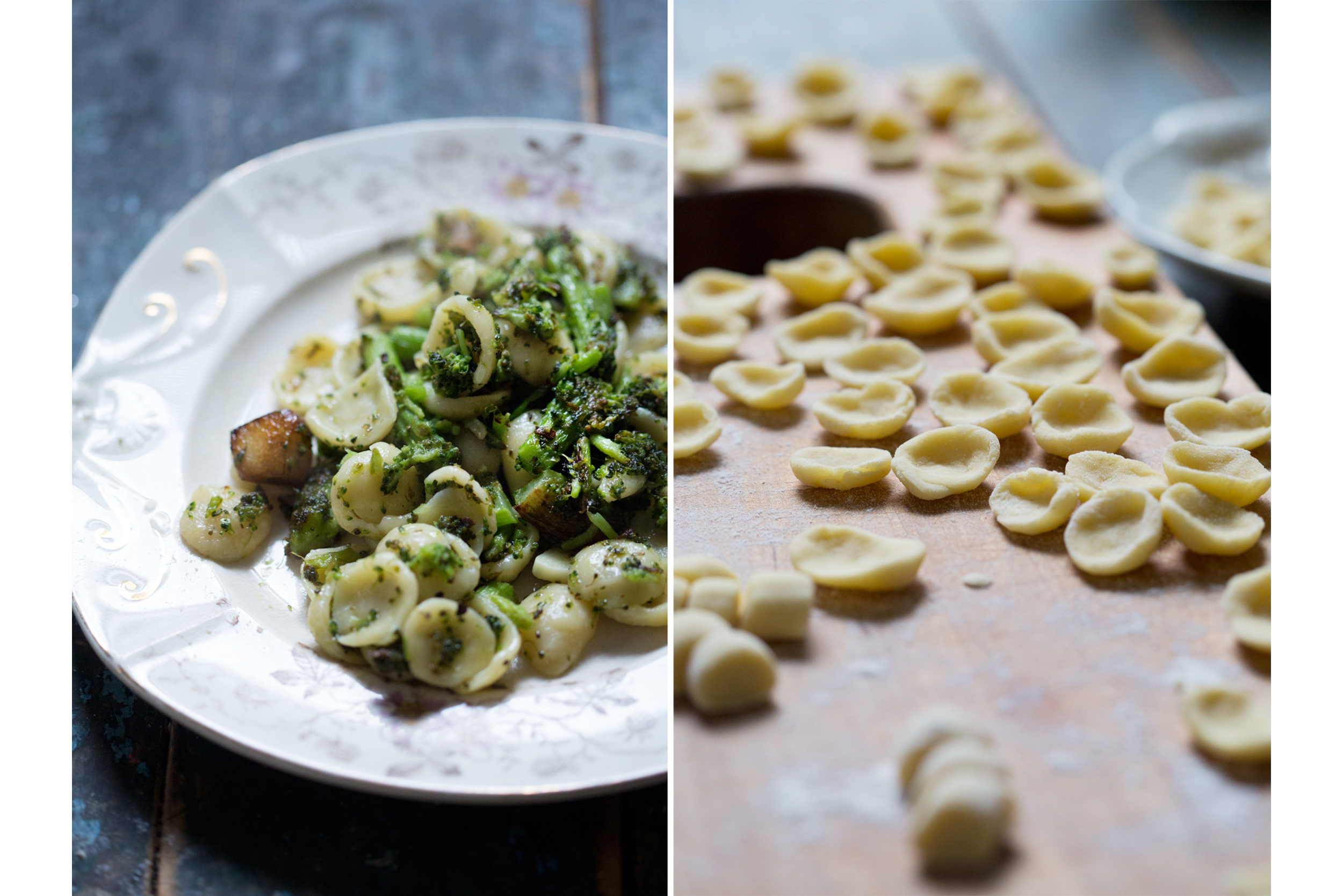 Homemade Orchiette with Broccoli