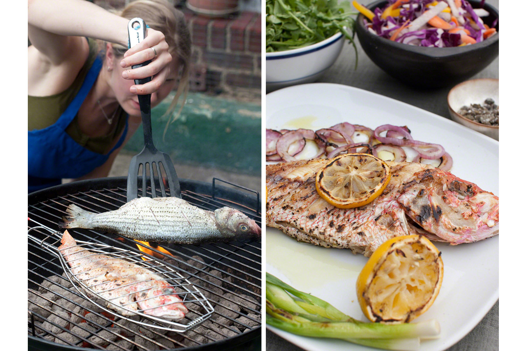 Grilling Fish, Red Snapper