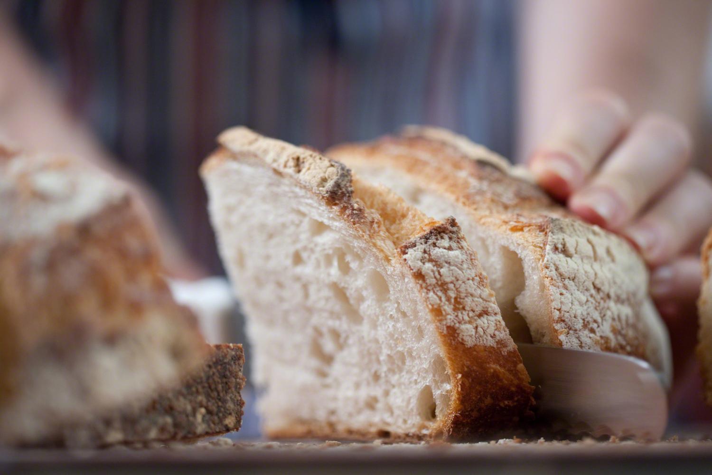 Slicing Bread Close-up