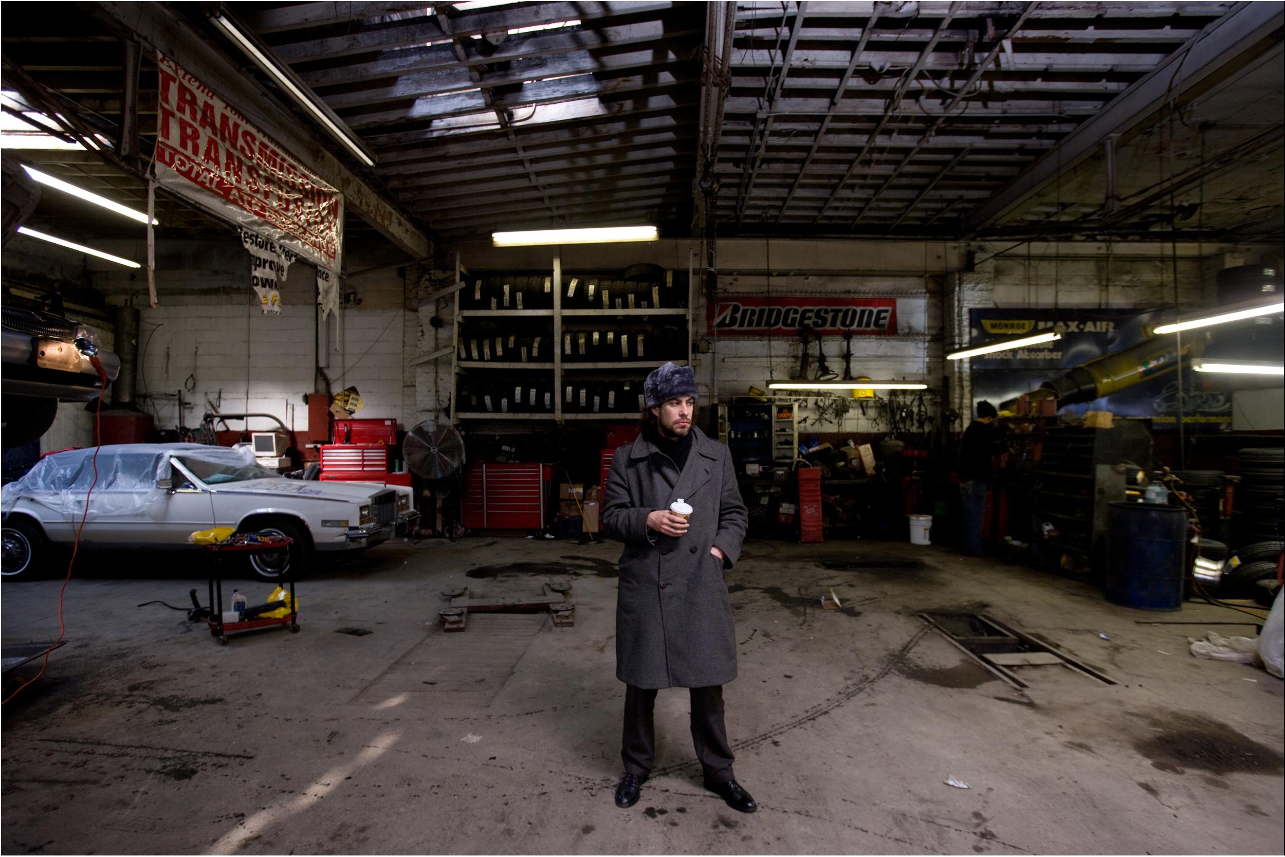 Man in Auto Repair Shop