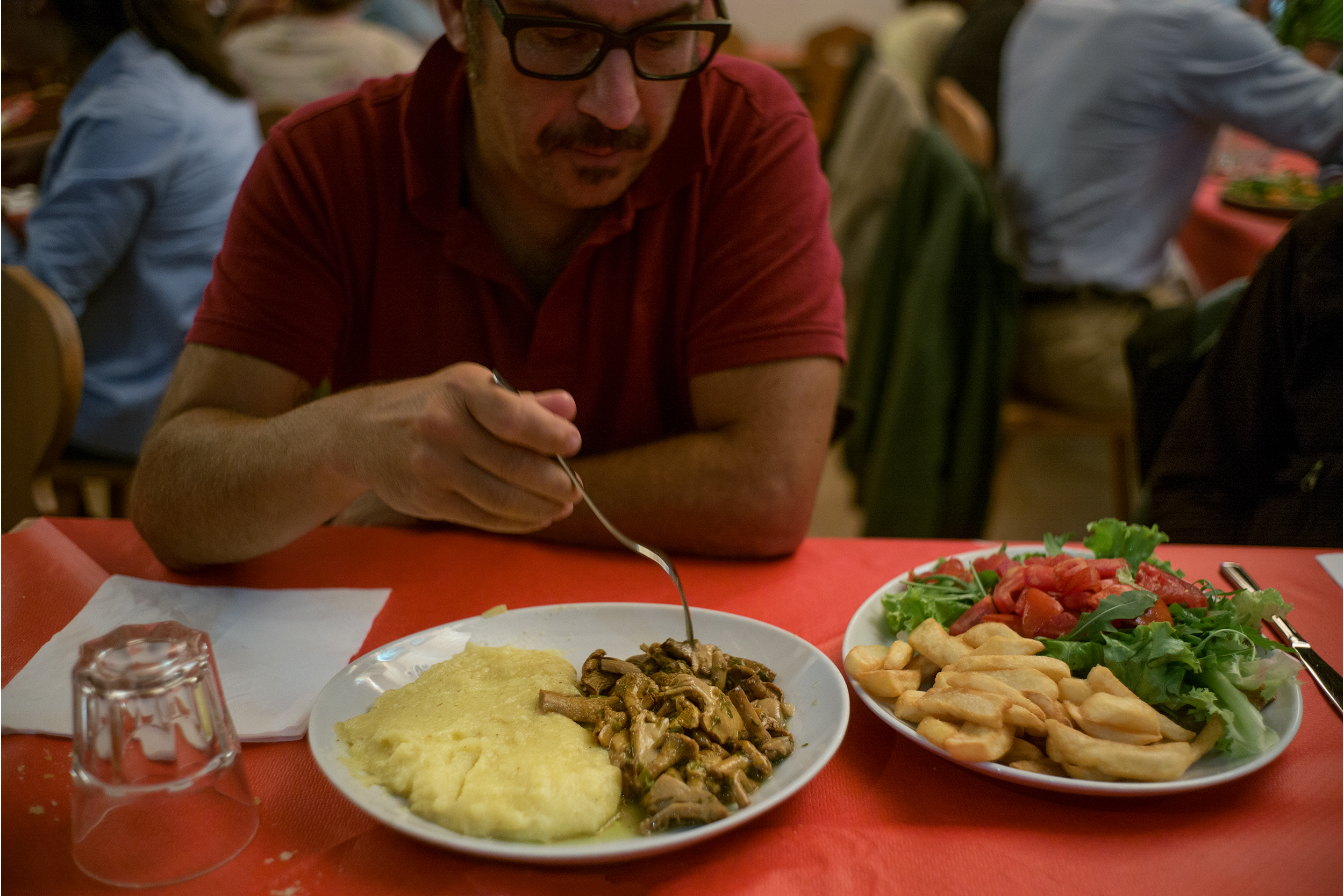 Polenta & mushrooms at Birreria da Bauce, Borca di Cadore