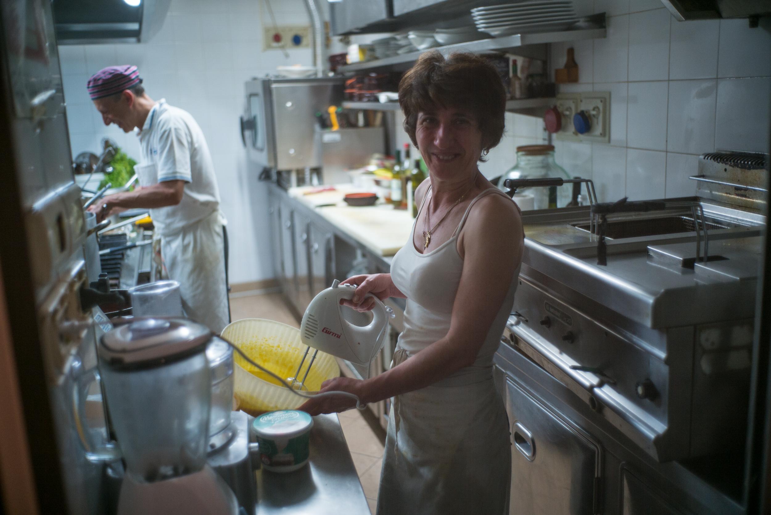 View into Restaurant Kitchen from Sidewalk - Moneglia