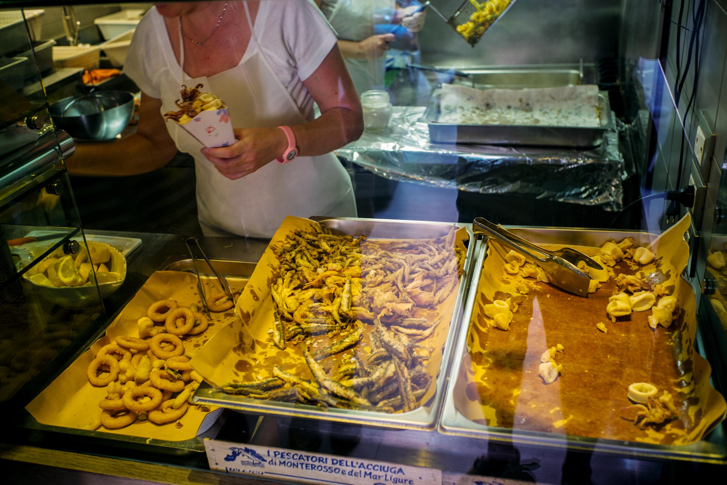 Fried calamari and fish - Riomaggiore
