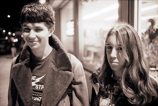 High school students Hazak and Amanda - 1999, 1st Ave & 6th Street (East Village). They were a couple. Hazak grew up to be a writer - and changed his name to Royal. We'll follow up with Amanda soon. * * * * #99snapshots #manhattan #nyc #leica #leicam6 #eastvillage #nycpeople #newyorklife #teens #90steens #newyorkkids #90s #citykids #coolkids  #ig_nyc  #documentary #realpeople #documentaryphotography #thenandnow #newyorkcitylife  #portrait  #documentaryfilm  #film #filmphotography #35mm #portraits_universe #blackandwhitephotography #love_bnw @seanc74 @lukyclover @mossvanishingnewyork @theroyalyoung