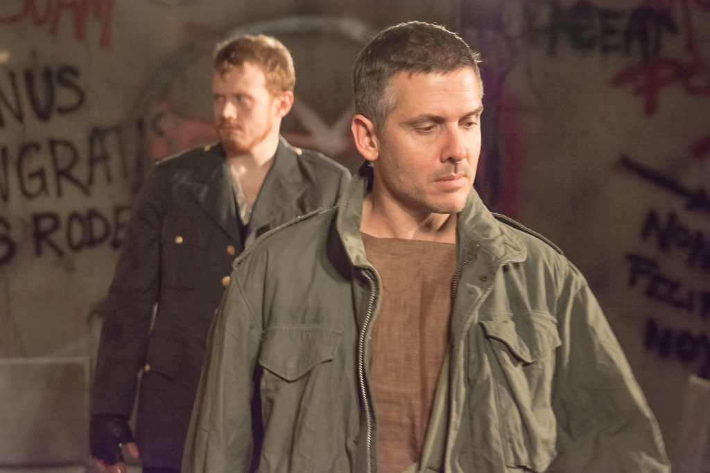 Dave LaSalle as Coriolanus and Matthew Ancarrow as Aufidius Tyrone Eaton Photography