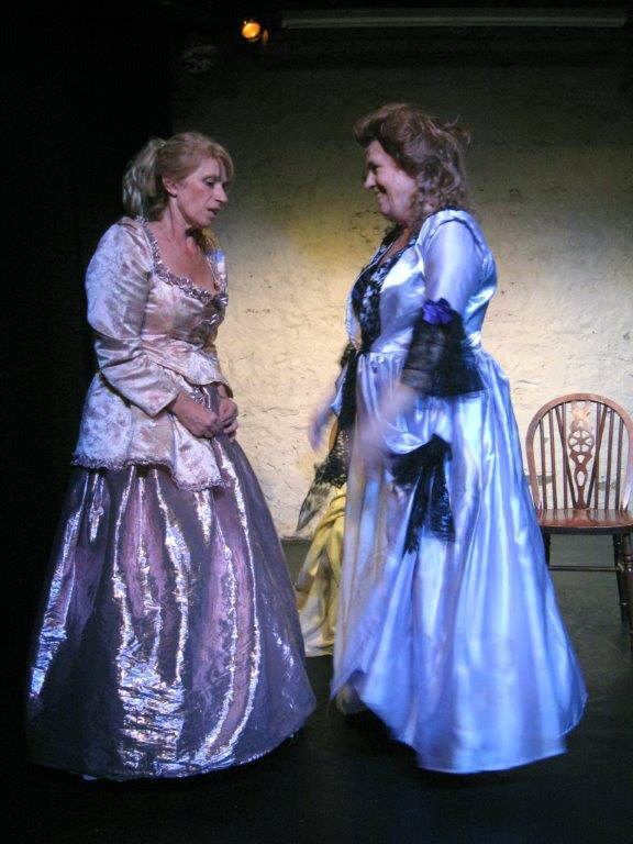 Terror was performed for the first time at the 2014 Edinburgh Festival. Above, Julia Rufey and Julia Munrow depict Grace Dalrymple Elliott and Madame du Barry.