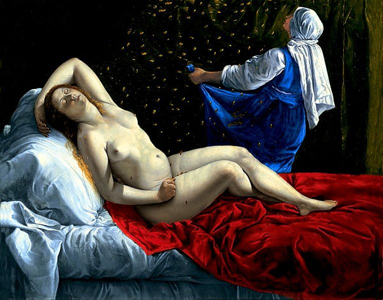 The Rape of Danae by Artemisia Gentileschi