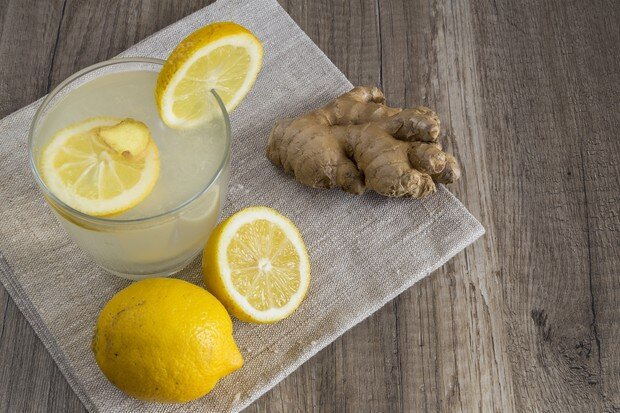 Before you do ANYTHING, start your day with a glass of warm water, lemon and ginger to wake up the system!