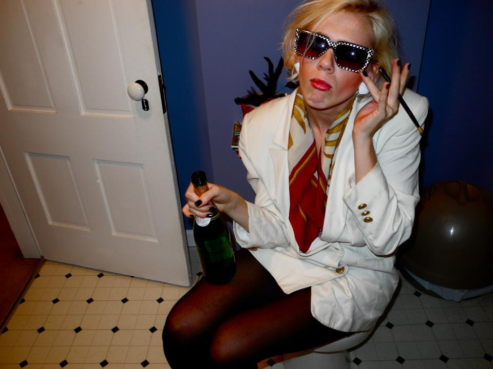 Jacq as Patsy Stone, on her her many fictional idols.