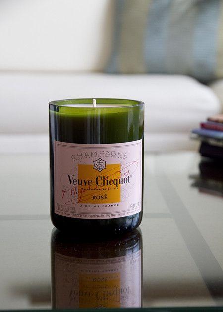Veuve Clicquot Soy-wax blend candle $56  http://la-femme-dangereuse.shoplightspeed.com/under-the-influence-candles-veuve-clicquot-rose-di.html