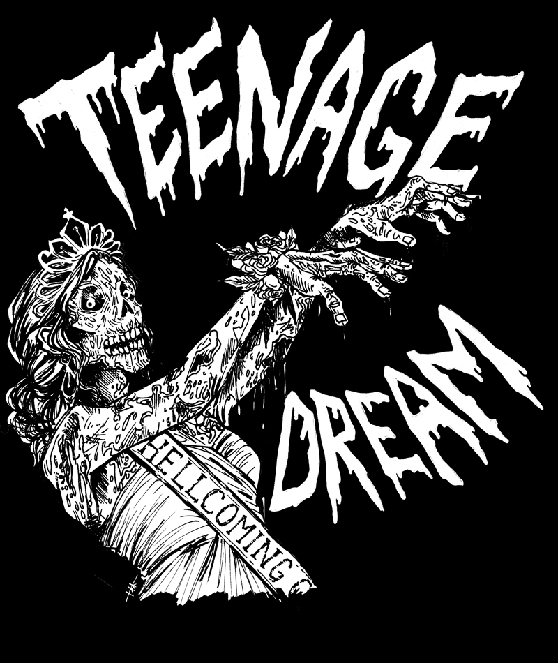 Teenage Dream. marker & digital, 2013.  Available screenprinted on patches (if you want one let me know!! ya punx)
