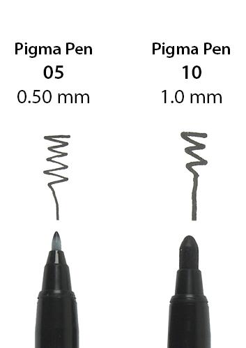 Pigma Pen 10 and 05 - nib close-up, 300dpi.jpg