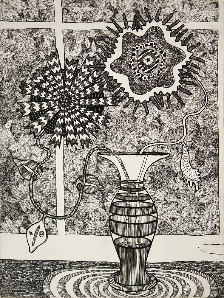 2015 - Vase, pen on wood panel, 8x6, 1000pxl.jpg