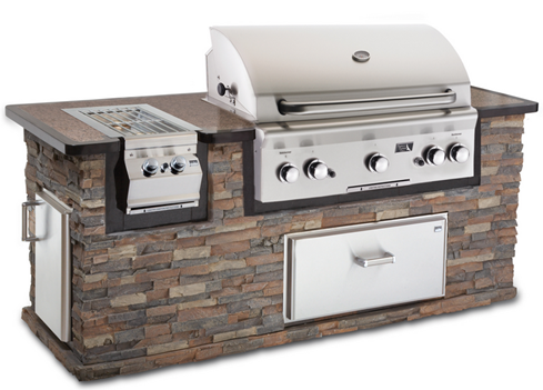 A grilling station is a one stop shop for outdoor cooking.