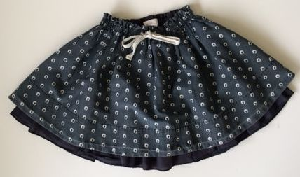 NEIGE NAVY BLUE SKIRT