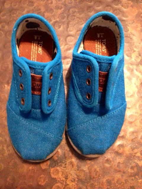TOMS BLUE WOOL SHOES