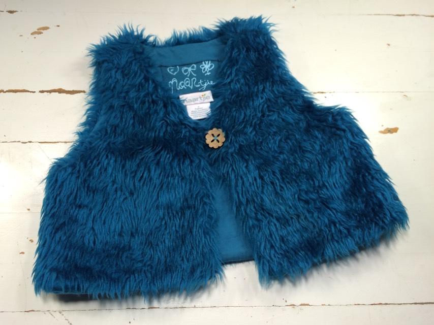 Naartjie Peacock Faux Fur Vest