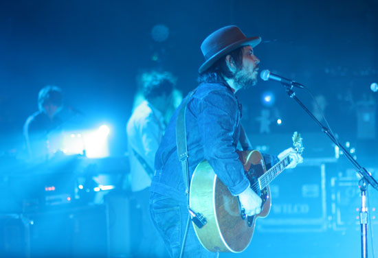 Jeff Tweedy of Wilco at the Paramount Theatre, Seattle, WA, on February 7, 2012. Photo by Dave Lake.
