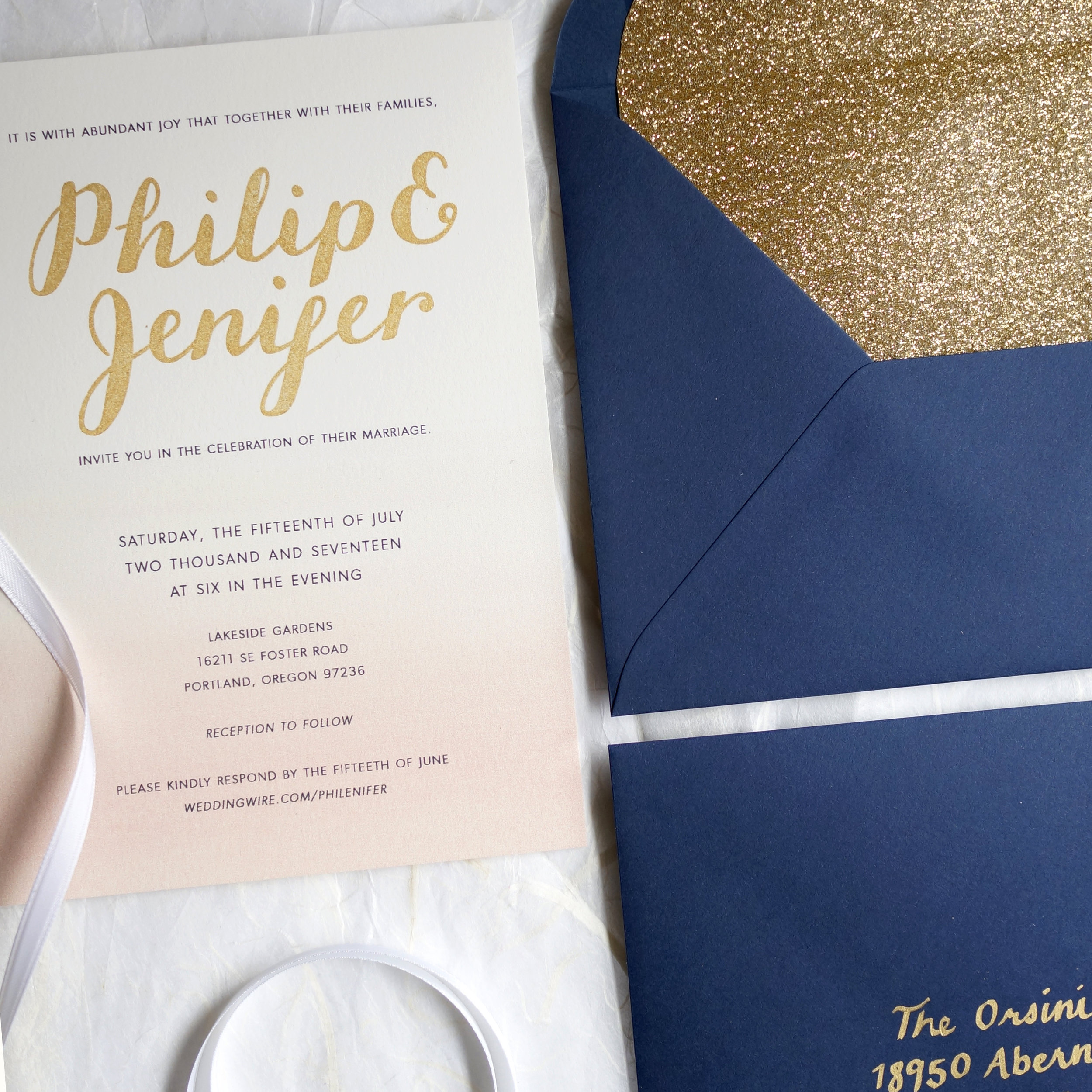Philip & Jenifer Invite
