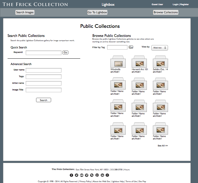 Public Collections Page